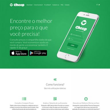 Cheep - Landing Page em Wordpress
