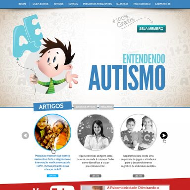 Entendendo Autismo - Site em Wordpress