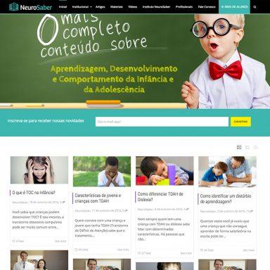 Neurosaber - Site em Wordpress